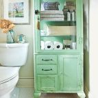 Vintage Storage in Bathroom